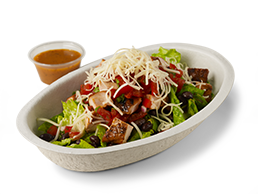 Chipotle salads are among the healthy chain food restaurant meals