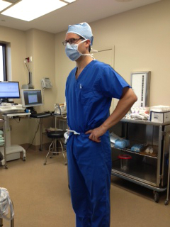 Dr. Capella in the O.R.