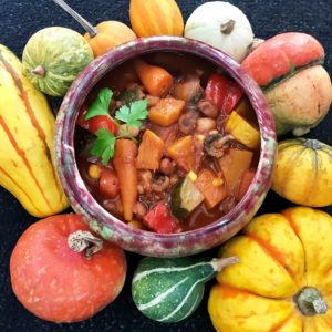 bariatric-friendly carrot and squash chili